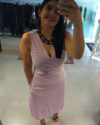 Vestido Linho Midi