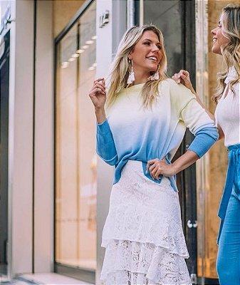Blusa Morina Tricot Tie Dye