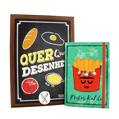 COMBO: Livro Quer que desenhe volume 2 e Sketchbook Fritas Kahlo - FRETE GRÁTIS