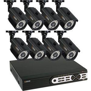 Kit CFTV -  Gravador de 16 Canais, Capacidade de 1TB HDD, Com 8 Câmeras