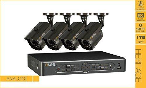 Kit CFTV -  Gravador de 08 Canais, Capacidade de 1TB HDD, Com 4 Câmeras