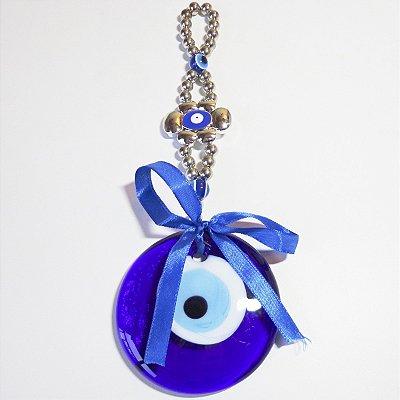 Amuleto Olho Grego Contas Prateadas