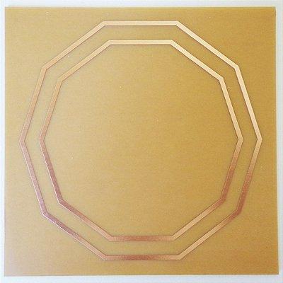 Placa Decágono Duplo M – Gráfico em Cobre