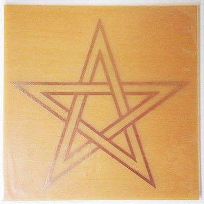 Placa Estrela de Cinco Pontas M - Gráfico em Cobre