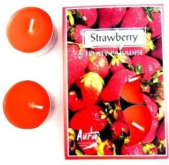 Velas Tea Lights Aura Strawberry