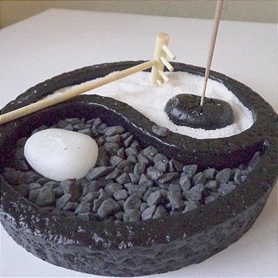 Jardim Zen Yin Yang Incensário
