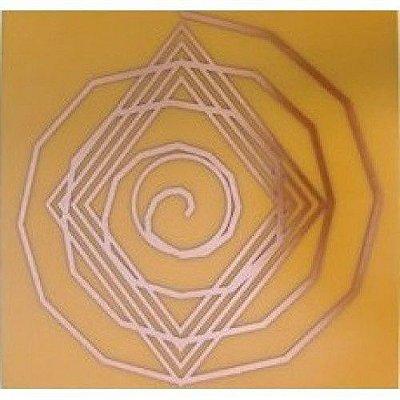Placa Espiral Cósmico M - Gráfico Cobre