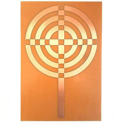 Placa Radiônica - Cruz Atlante em Cobre