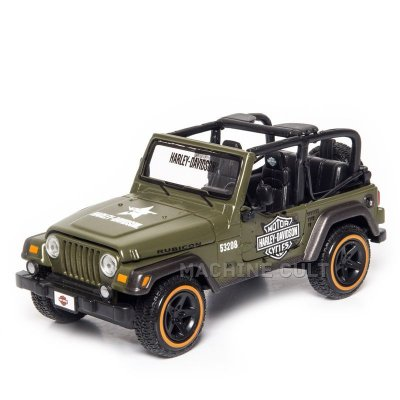 Miniatura Jeep Wrangler Rubicon Harley-Davidson Militar - 1:27