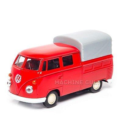 Perua Kombi Pickup Cabine Dupla Vermelha - 1:43