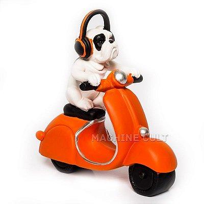 Miniatura Decorativa Cachorro Motociclista