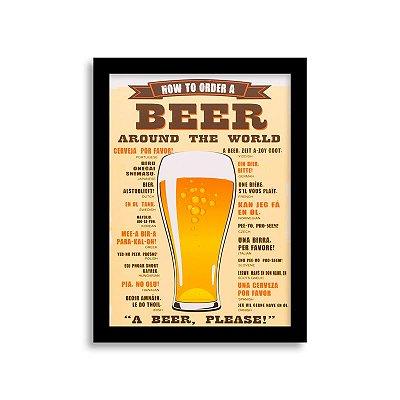 Quadro Cerveja - Around the World
