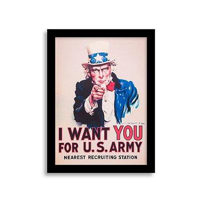 Quadro US ARMY - I Want You