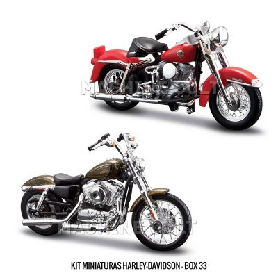 Kit Miniaturas Harley-Davidson - BOX 33