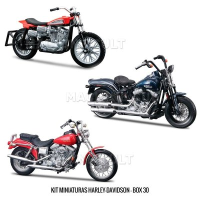 Kit Miniaturas Harley-Davidson - BOX 30
