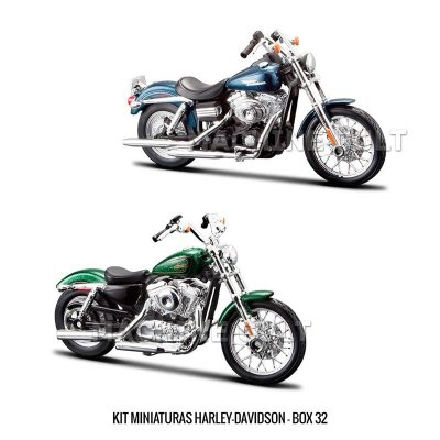 Kit Miniaturas Harley-Davidson - BOX 32