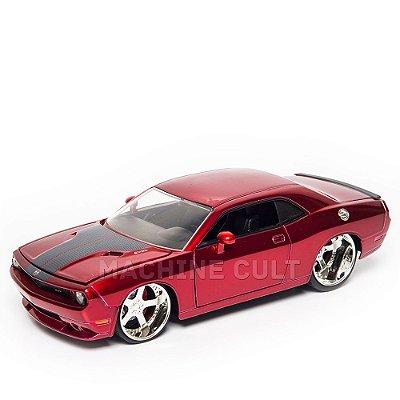 Miniatura Dodge Challenger SRT8 2008 Vermelho Jada 1:24