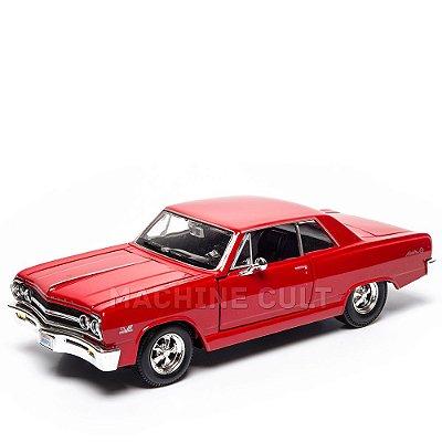 Miniatura Chevrolet Malibu SS 1965 Vermelho - Maisto - 1:24