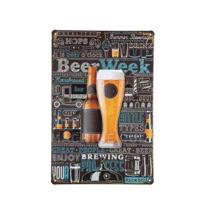 Placa Cerveja em Metal