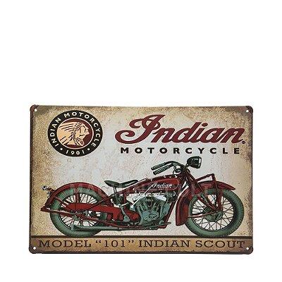 Placa Moto Indian Scout em Metal