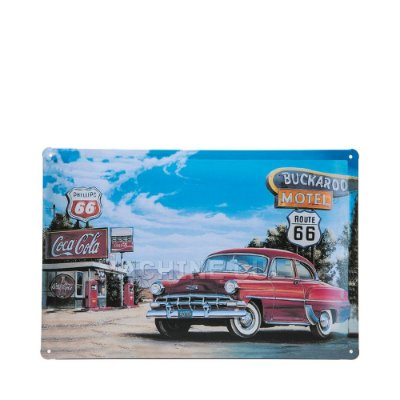 Placa Decorativa em Metal Carro Antigo
