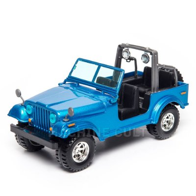 Miniatura Jeep Wrangler Azul 1:24 Burago