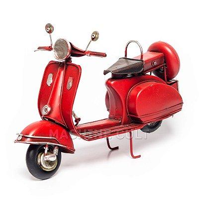 Lambretta Vermelha Decorativa