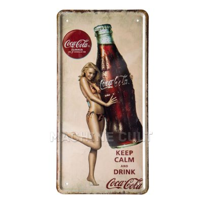 Placa Decorativa Coca-Cola Summer