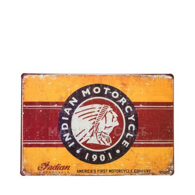 Placa Decorativa indian Motorcycle Logo
