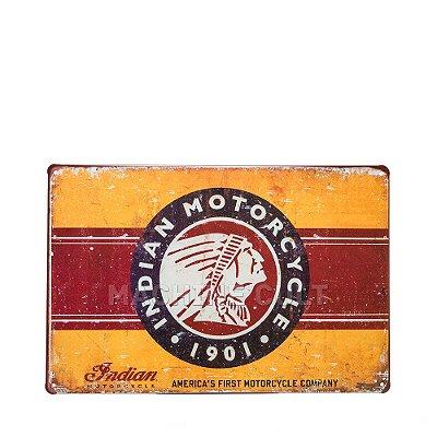 Placa Decorativa indian Motorcycle Logo