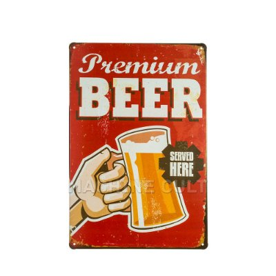 Placa Decorativa Premium Beer