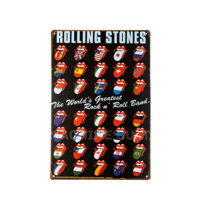 Placa Decorativa Rolling Stones M2