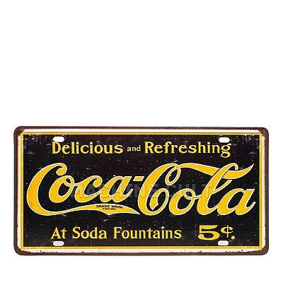 Placa Coca-Cola - Alto Relevo