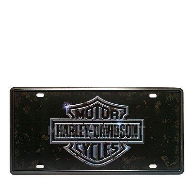 Placa Harley-Davidson Motorcycles M2 - Alto Relevo