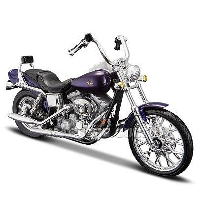 Miniatura Harley-Davidson 2001 FXDWG Dyna Wide Glide - Maisto 1:18