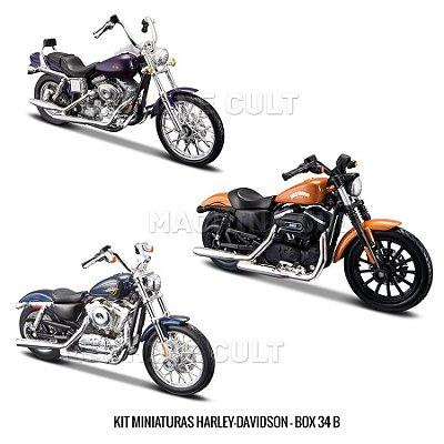 Kit Miniaturas Harley-Davidson - Série 34 - BOX 34B