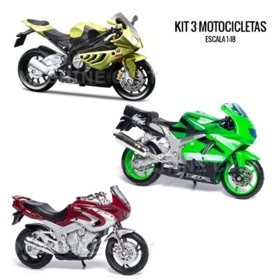 Kit de Miniaturas Moto Esportiva - Box 18