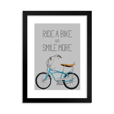 Quadrinho Decorativo Ride a Bike