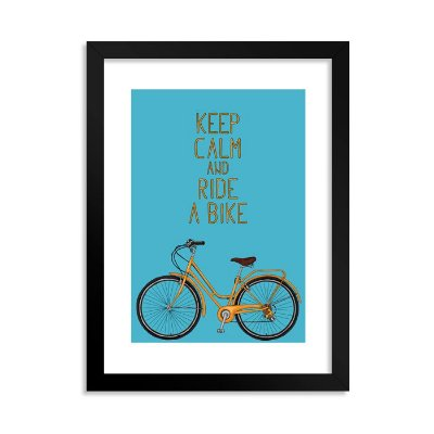 Quadrinho Keep Calm and Ride a Bike