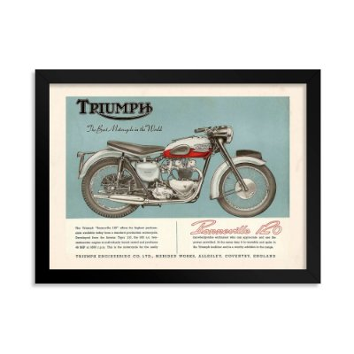 Quadro Decorativo Triumph Bonneville 120