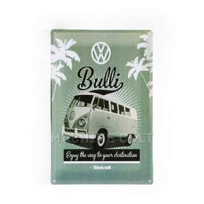 Placa Decorativa em Metal - Kombi VW
