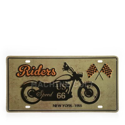 Placa Decorativa em Metal - Best Riders - alto relevo