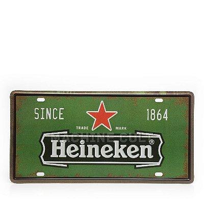 Placa Decorativa em Metal - Cerveja Heineken - alto relevo