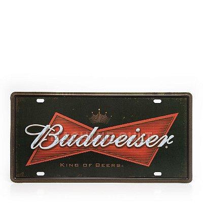 Placa Decorativa em Metal - Cerveja Budweiser - alto relevo