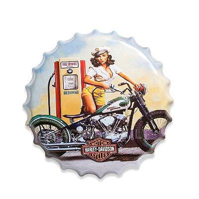 Placa Harley-Davidson M8 - Alto Relevo