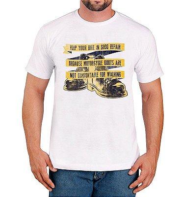 Camiseta Frase de Moto