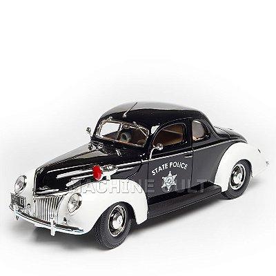 Miniatura 1939 Ford Deluxe - Carro de Polícia - Maisto 1:18