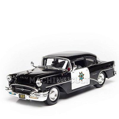 Miniatura 1955 Buick Century - Carro de Polícia - Maisto 1:26