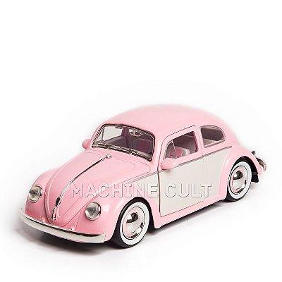 Miniatura Fusca Volkswagen 1959 - Cor de Rosa - Jada 1:24