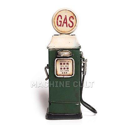 Miniatura Bomba Gasolina Antiga - Verde